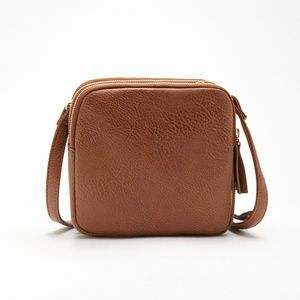 F21 Multi-Compartment Crossbody Bag